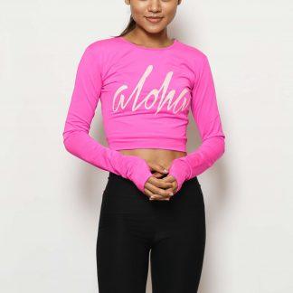 Aloha Long Sleeve Neon Pink