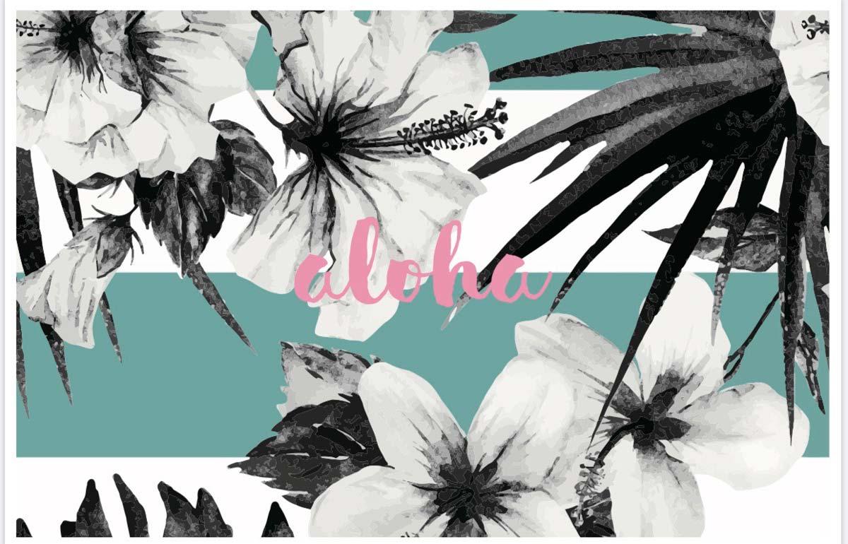 Hibiscus with aloha